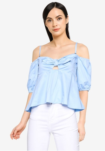 Guess blue Short Sleeve Onoria Top 73299AAD6DCC71GS_1