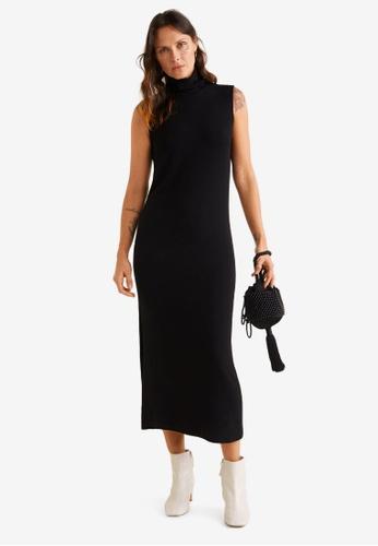 Mango black Turtle Neck Dress 6486EAAC4BA930GS_1