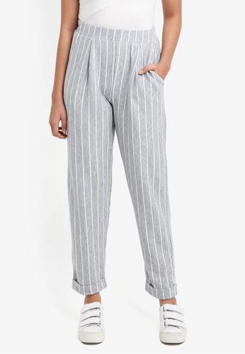 Miss Selfridge grey Grey Striped Joggers C2978AA22D6F96GS_1