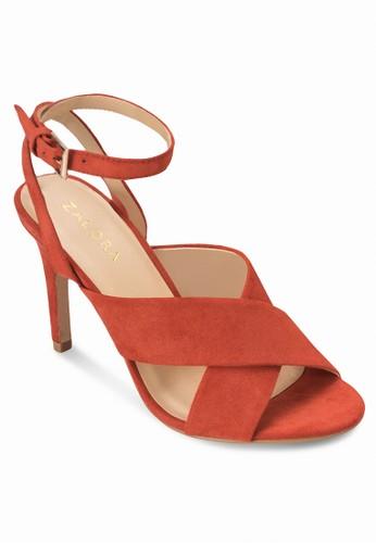 交叉寬帶高跟涼鞋、 女鞋、 鞋ZALORA交叉寬帶高跟涼鞋最新折價