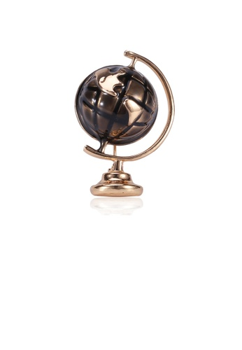 Glamorousky silver Simple Personality Plated Gold Globe Brooch FF699ACA891436GS_1