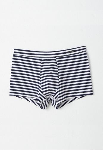 HOM 多色 舒適平腳內褲 - Grey/Blue 825EDUS91E621EGS_1