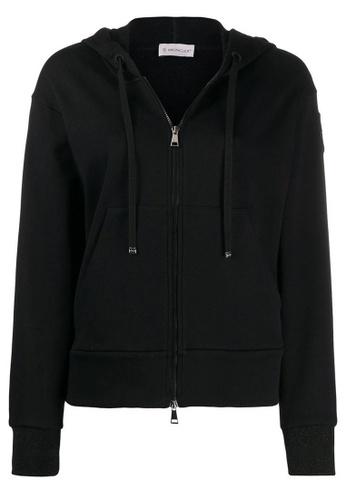 Moncler black Moncler Macro Logo Jacket in Black FDFB5AA4B5BF43GS_1