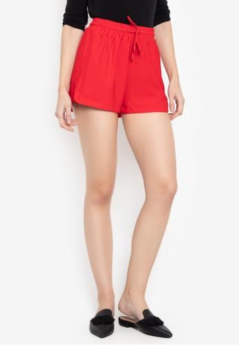 Susto The Label red Marlon Drawstring Shorts B1506AA14C06B5GS_1