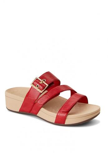 Vionic red Pacific Rio Lizard Women's Platform Sandals E2074SH4874D32GS_1