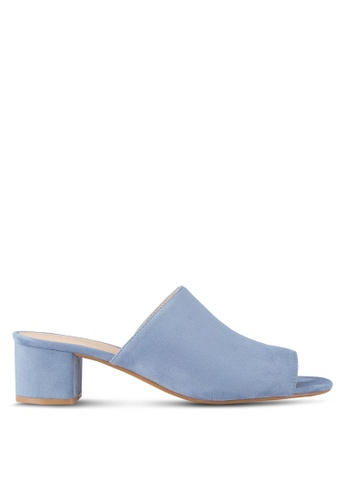 f8b2335a8d52 Buy ZALORA Peep Toe Low Heel Mules Online on ZALORA Singapore