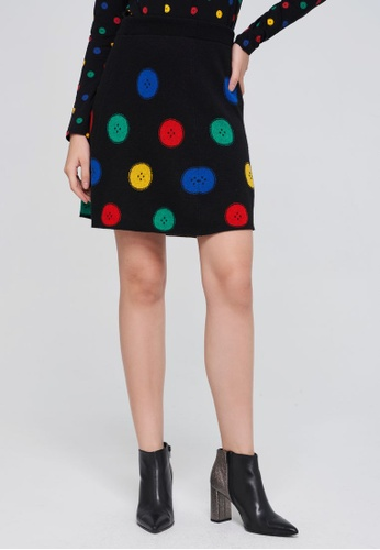 United Colors of Benetton black Multicolor Knit Skirt 15ABEAA5A3322CGS_1