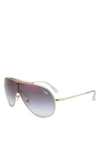 Ray-Ban 金色 RB3597 Sunglasses B7A8BGL2F5B79FGS_1