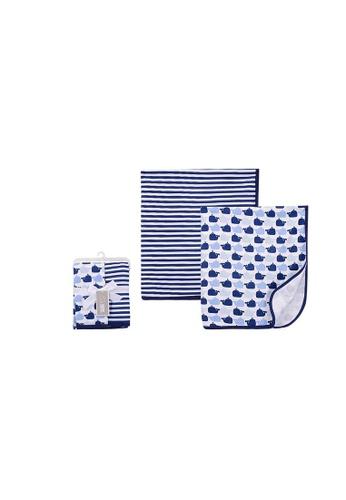 Little Kooma blue Baby Interlock Swaddle Blankets 2pc 51436 - 0821 295FDKC4F9B555GS_1