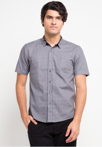 YEGE multi and grey Short Sleeve Modern Print Shirt YE201AA0V8YKID_1