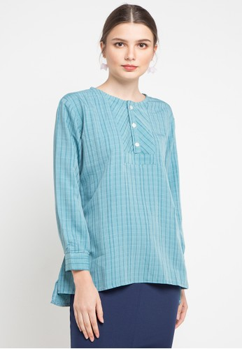 Office Hour blue and multi Lynelle Blouse 9311CAA94B1D96GS_1