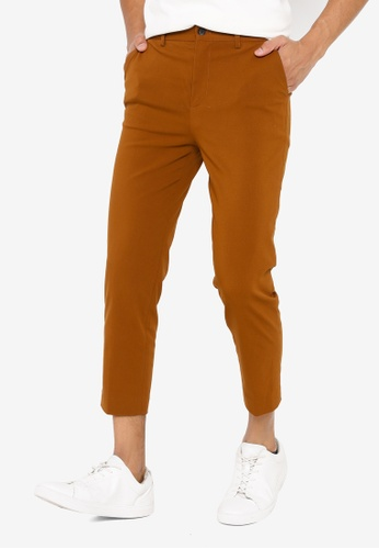 GLOBAL WORK brown Crop Pants EF0DCAA6A3A774GS_1