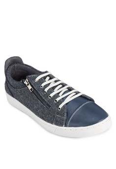 Duo Tone Mix Material Sneakers