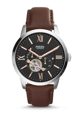 Fossil brown Fossil Townsman Automatic Leather Watch ME3061 FO164AC0RXGOMY_1