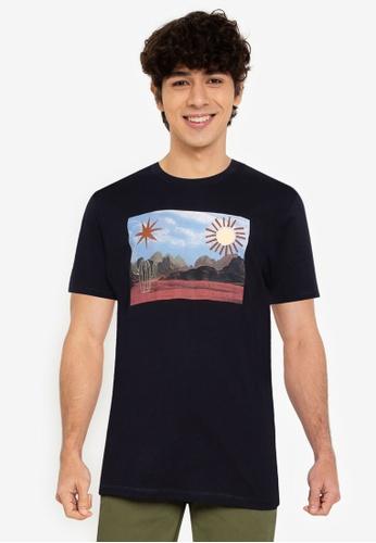 Springfield navy Cactus T-Shirt 9BB23AA371C1E0GS_1