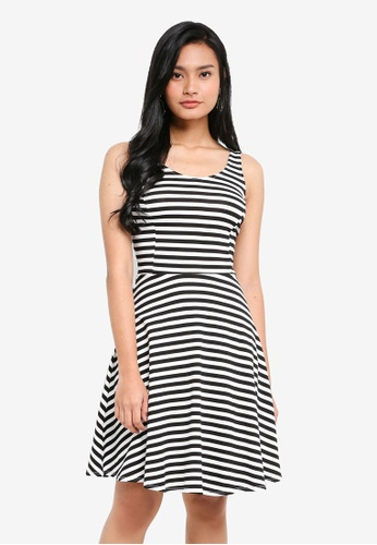 Dorothy Perkins 多色 Stripe Seamed Fit And Flare 3A7E7AADA9DF86GS_1