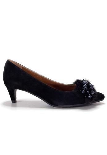 Shu Talk black LeccaLecca Gorgeous Faux Fur Heels 9D037SHC9744E5GS_1