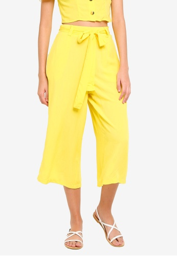 Supre yellow Crop Tie Waist Pants F99A7AA3D9886BGS_1