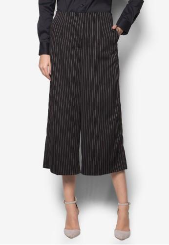 Melissa 條紋esprit 兼職寬管褲, 服飾, 服飾