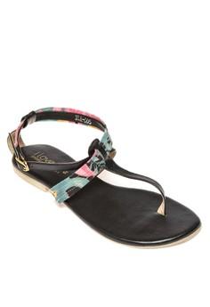 Printed Flat Sandals