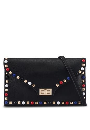 Perllini&Mel black Faux Leather Clutch Wristlet 5C180ACB7963B6GS_1