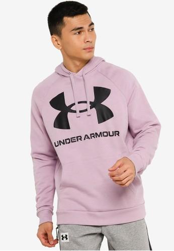 Under Armour pink Rival Fleece Big Logo Hoodie 4215EAA83648EBGS_1