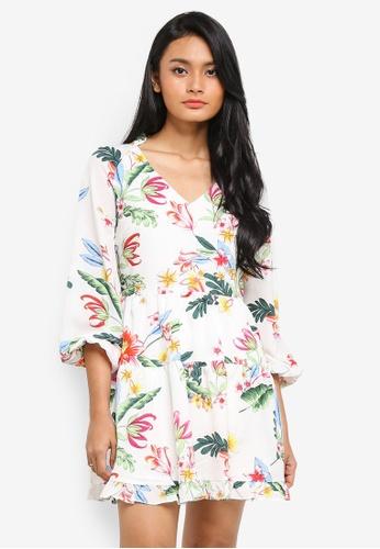 Preen & Proper multi Long Sleeve V-Neck Dress 6A60AAA363A365GS_1