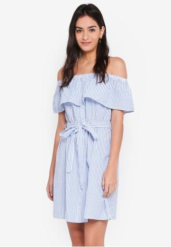 Vero Moda white Suki Off Shoulder Dress E3CE5AAB463860GS_1