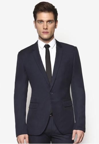 Crosshatch 修身西裝外套,esprit台灣 服飾, 服飾