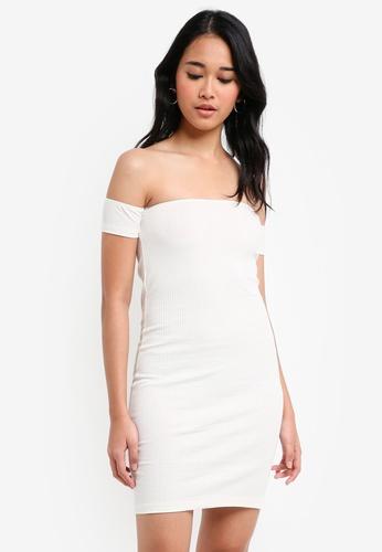 TOPSHOP white Bandeau Bodycon Dress 236F3AAF442D17GS_1