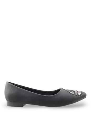 Footspot black FOOTSPOT - Pointed Toe Flats FO296SH55GDOHK_1