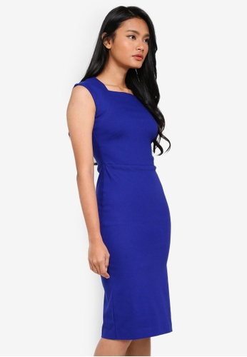 Dorothy Perkins blue Cobalt Cap Sleeve Dress 816E3AA4DACD06GS_1