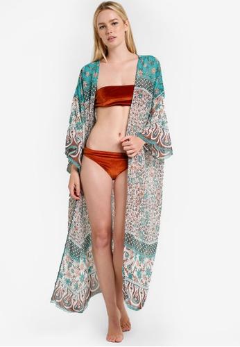 PINK N' PROPER green Calaeno Long Kimono PI108US89SFQMY_1