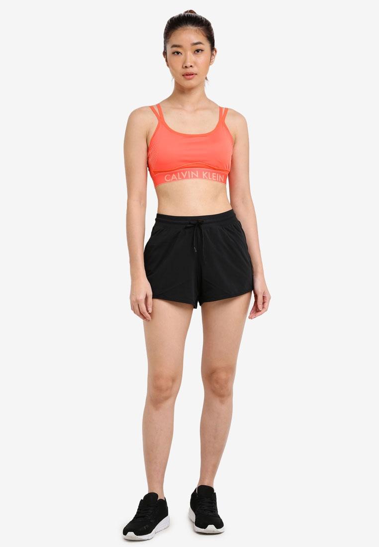 Bra Calvin Performance Klein Calvin Sports Hot Straps Coral Klein Adjustable RwIqf