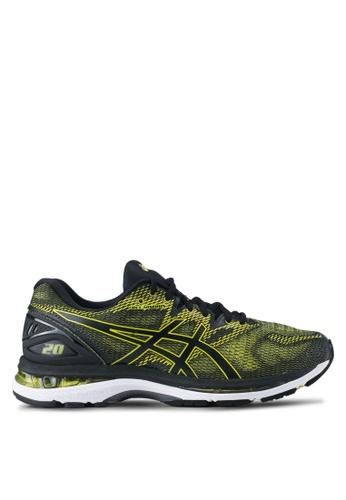 Asics black and yellow Gel-Nimbus 20 Shoes AS989SH0SVSAMY_1