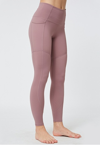 HAPPY FRIDAYS Nude Cropped Sports Tights QF2147 A2F16AA60A4F6BGS_1