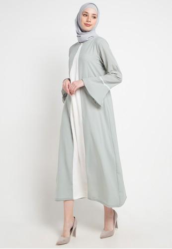 Aira Muslim Butik green and multi Asyifaa Dress 4D3A9AA05F3DC2GS_1