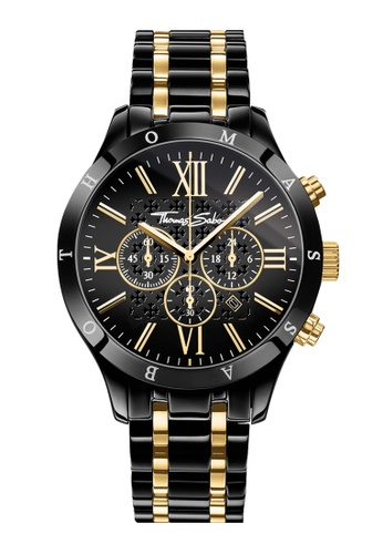 "Thomas Sabo black Men's Watch ""REBEL URBAN"" TH376AC0GLW4SG_1"