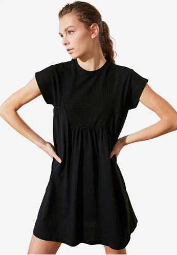 Trendyol black Cut Detailed Dress 0BF58AAE4CE6CFGS_1