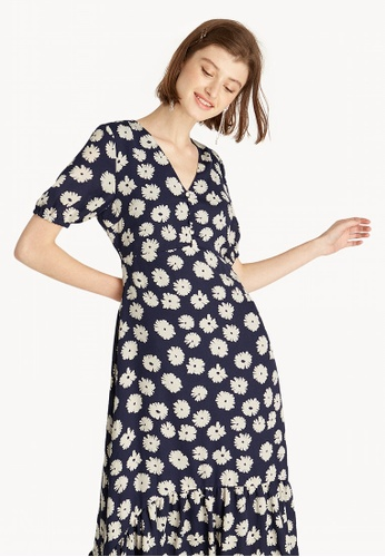 81959b73fbe39 Buy Pomelo Maxi Daisy Ruffle Dress - Navy Online on ZALORA Singapore