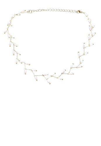 Red's Revenge gold Charming Pearl Bead Choker Necklace 3C21DAC60375E5GS_1