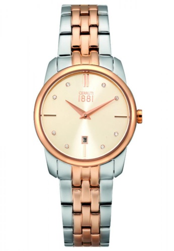 CERRUTI 1881 gold Two Tone Stainless Steel IP Rose Gold Bracelet Ladies Watch CE514AC31QOUMY_1