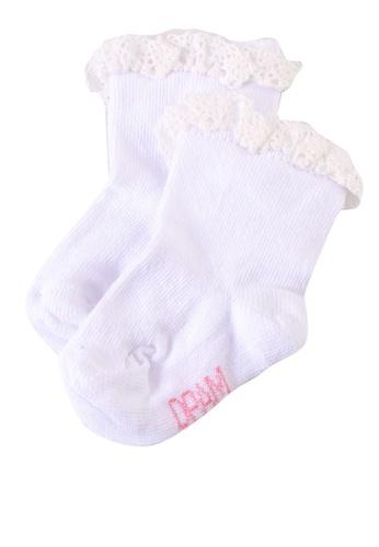 Du Pareil Au Même (DPAM) white Crochet Socks 49049KA9334B9AGS_1