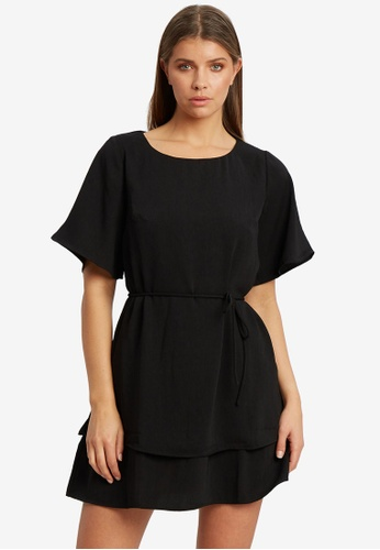 REUX black Ray Layered Dress 36A52AA041FB69GS_1