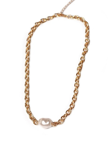 Gung Jewellery gold Oda Pearl Gold Chain Necklace 0F76BAC41199C3GS_1
