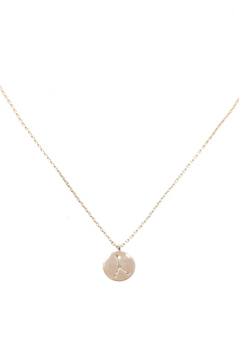 Orelia London gold Cancer Constellation Necklace OR747AC0SC37MY_1