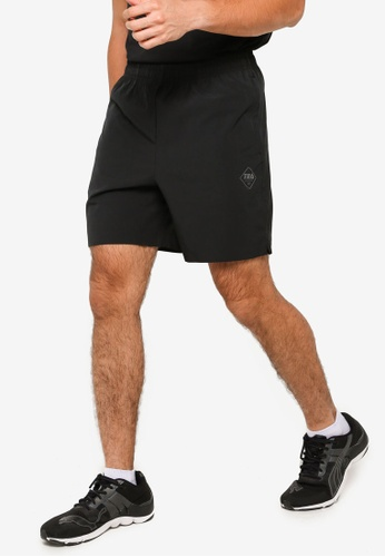 361° black Cross Training Sports Shorts 71633AAC6B0354GS_1