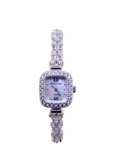 Japan Design Silver Plating Lady Fashion Bracelet Crystal Watch