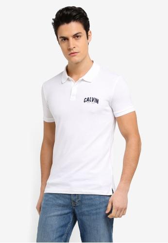 Calvin Klein 白色 Polis Slim Polo Shirt - Calvin Klein Jeans 0AC99AA15D2902GS_1