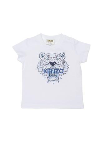 KENZO KIDS white KENZO TIGER BABY BOYS T-SHIRT 36709KA8D03250GS_1